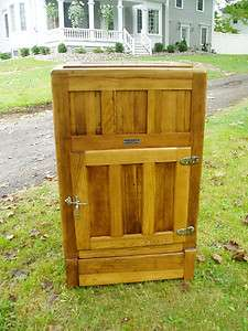 SWEET LARGE ANTIQUE HUDSON OAK ICE BOX READY TO DISPLAY AND ENJOY
