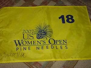 Christie Kerr 2007 US Open Winner Signed Pine Needles Flag