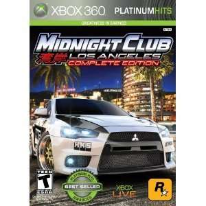 Midnight Club Los Angeles LA GAME X BOX Xbox 360 NEW (710425392603