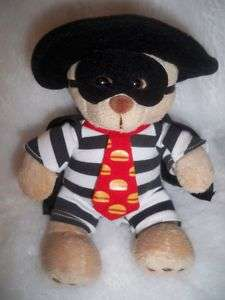 MCDONALDS MCDONALDLAND HAMBURGLAR BEAR BUILD A BEAR