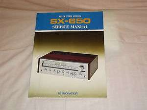 Pioneer SX 650 AM/FM Stereo Receiver Original Service Manual