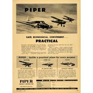 1956 Ad Piper Personal Aircrafts Tri Pacer Apache PA   Original Print