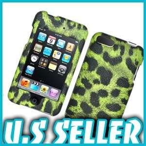 BLACK LEOPARD FABRIC HARD CASE FOR APPLE IPOD TOUCH 2 3