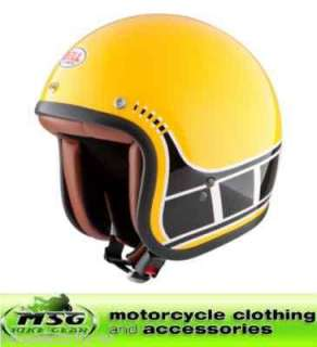 BELL OPEN FACE MOTORCYCLE HELMET YELLOW BLACK XL RT5