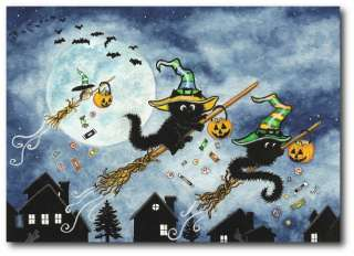 Peek & Boo Black Cats Halloween Hamster Witch Hat Trick or Treat