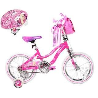 16 Girls Barbie Bike, Helmet & Bike Bell Value Bundle