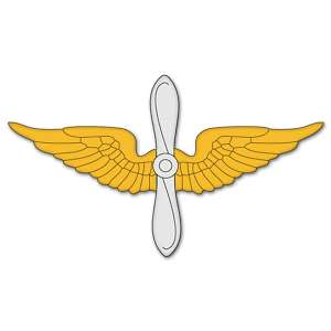 Army Aviation Branch Insignia car sticker 6 x 2