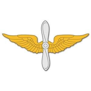 Army Aviation Branch Insignia car sticker 6 x 2 |