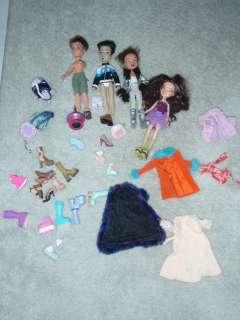 BRATZ DOLL BOYZ GIRLZ GIRLS 4 DOLLS CLOTHES SHOES 12 TOY DOLL