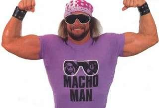 Macho Man Randy Savage Purple Sunglasses T shirt New