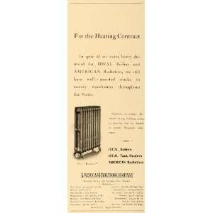 1904 Ad American Radiators Ideal Boilers Home Heating