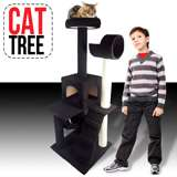 Deluxe 52 Cat Tower Tree w Condo Scratcher Furniture Kitten House