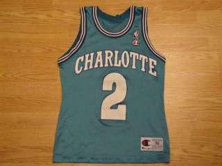 90s LARRY JOHNSON CHARLOTTE HORNETS NBA BASKETBALL JERSEY 36