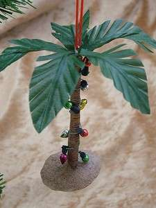 New Decorated Palm Tree Christmas Lights Beach Ornament