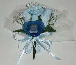Baby Shower Sock Corsage   Boy BLUE Pacifier / Baby Shower