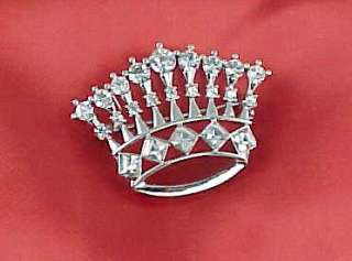 Austrian Crystal Rhinestone CROWN TIARA Brooch Pin