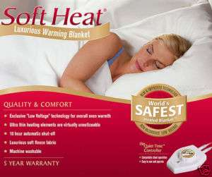 Soft Heat Beige QUEEN Electric Warming Blanket 5741