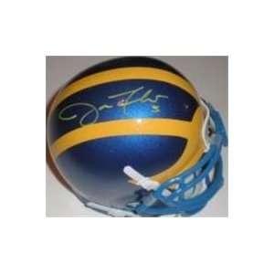 Joe Flacco autographed Football Mini Helmet (Delaware)