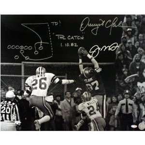 Dwight Clark and Joe Montana San Francisco 49ers  The Catch  16x20