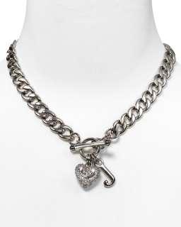 Juicy Couture Pavé Heart Starter Charm Necklace, 16L  Bloomingdale