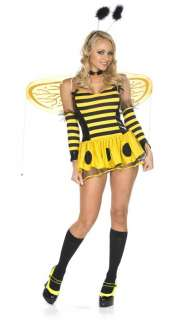 TEEN GIRLS QUEEN BUMBLE BEE SKIRT BUG HALLOWEEN COSTUME