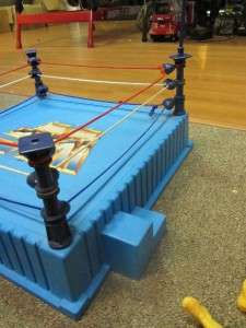90S WWF WRESTLING RING AND ACTION FIGURE LOT TNA WWE WCW RARE