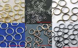 Silver/Gold Plated Open Metal Jumping Rings Finding You choose color