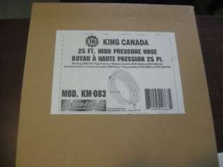 King Canada Tools KM 083 Pressure Washer High Pressure Hose KPW2000 1