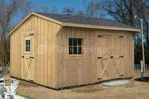 12 x 14 Garden Storage Saltbox Style Shed Plans 71214