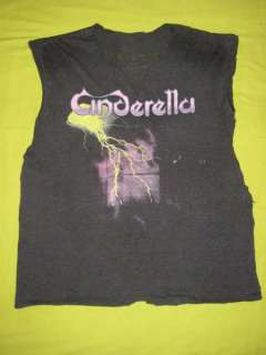 1986 CINDERELLA NIGHT SONGS VTG TOUR T SHIRT SOFT THIN