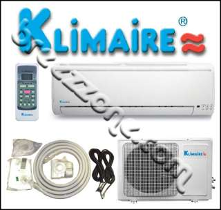 KLIMAIRE DUCTLESS MINI SPLIT HEAT PUMP 13 SEER 12000 BTU 1 TON, 16FT