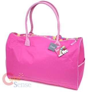 Sanrio Hello Kitty Duffle Bag / Travel / Gym   20 Large Pink Flowers