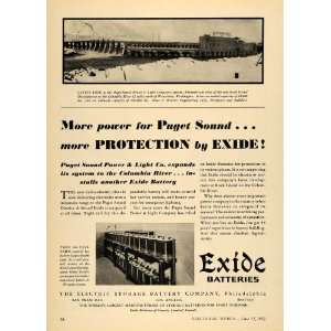 1932 Ad Electric Storage Battery Co Exide Puget Sound