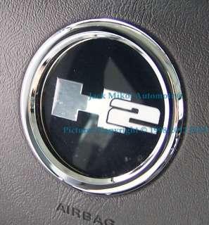 Chrome Billet Steering Wheel Bezel for HUMMER H2