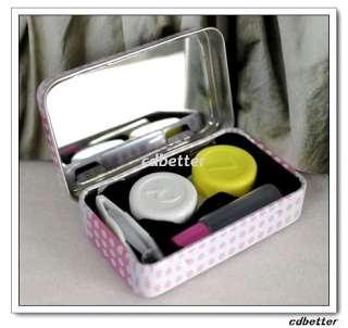 Cute Hello Kitty Iron Metal Portable Travel Contact Lens Case Box Set