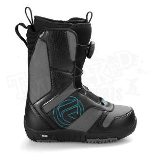 Jr. BOA Coiler Youth Kids Snowboard Boots   Black   Size 1