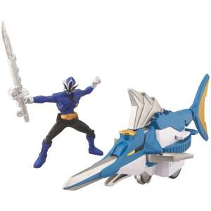 Bandai Power Rangers Swordfish Zord and Mega Blue Ranger