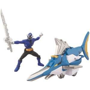 Bandai Power Rangers Swordfish Zord and Mega Blue Ranger