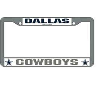 DALLAS COWBOYS Chrome License Plate Frame Brand NEW NFL