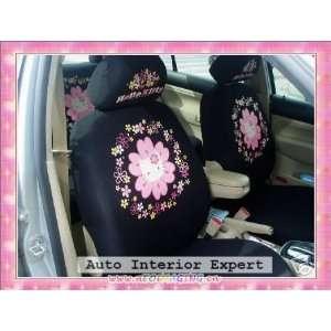 10PCS HELLO KITTY SUNFLOWER UNIVERSAL CAR SEAT COVER SET