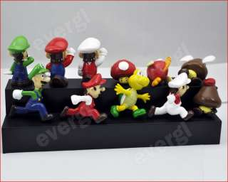Super Mario Luigi Bowser Waluigi Yoshi 11 Figures Set