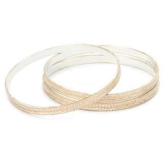 Anna Beck Designs Timor 18k Rose Gold Plated Wire Rimmed Bangle