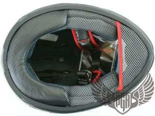 Dual Visor Black Full Face Motorcycle Helmet DOT ~ XL