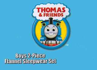 Thomas The Train Toddler Boys Flannel Winter Pajama Set