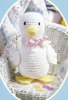 Baby Afghans Crochet Patterns Ducks Toy Blanket Easter Just Ducky Set