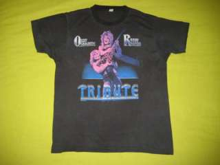 VTG OZZY OSBOURNE RANDY RHOADS 1987 T SHIRT tour 80s L TRIBUTE black
