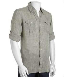 Brunello Cucinelli Mens Linen Shirt    Brunello Cucinelli