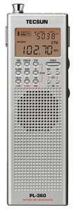 Tecsun PL360 Digital AM FM SW Shortwave Portable Radio PL 360 Sliver
