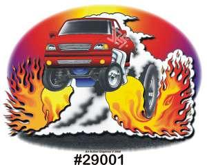LIGHTNING TRUCK drag art hot rod CarTOON T Shirt