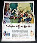 1949 OLD MAGAZINE PRINT AD, MAXWELL HOUSE COFFEE, FAMILY SCENE ART